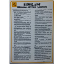 Instrukcja BHP obowiązująca wszystkich pracowników.