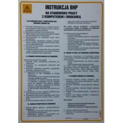 Instrukcja BHP na stanowisku pracy z komputerem i drukarką.