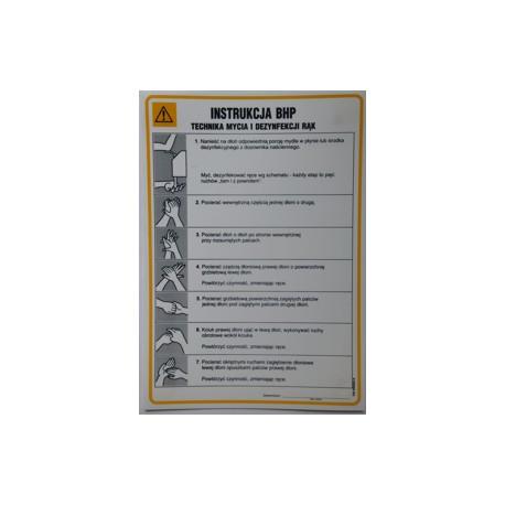 Instrukcja BHP - Technika mycia i dezynfekcji rąk.