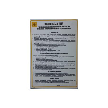 Instrukcja BHP przy obsłudze urządzenia gaśniczego