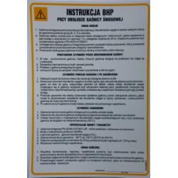 Instrukcja BHP przy obsłudze gaśnicy śniegowej.