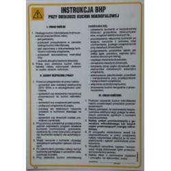 Instrukcja BHP przy obsłudze kuchenki mikrofalowej.