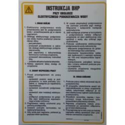 Instrukcja BHP przy obsłudze elektrycznego podgrzewacza wody.