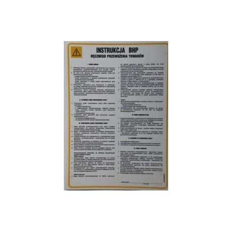 Instrukcja BHP ręcznego przewożenia towarów.
