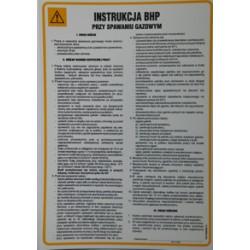 Instrukcja BHP przy spawaniu gazowym.