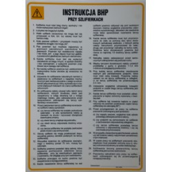 Instrukcja BHP przy szlifierkach.