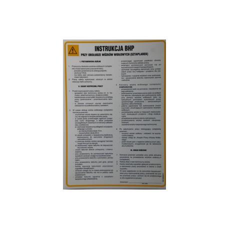 Instrukcja BHP przy obsłudze wózków widłowych (sztaplarek).
