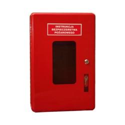 Szafka na instrukcję bezpieczeństwa pożarowego.Szafka na instrukcję bezpieczeństwa pożarowego.