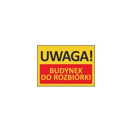 T404 UWAGA! Budynek do rozbiórki