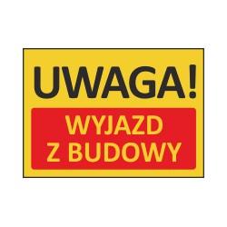 T415 UWAGA! Wyjazd z budowy
