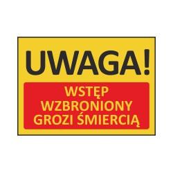 T419 UWAGA! Wstęp wzbroniony grozi śmiercią