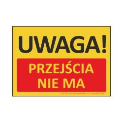 T427 UWAGA! Przejścia nie ma