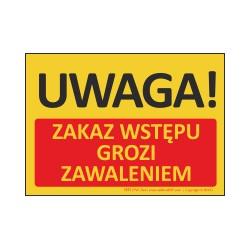 T433 UWAGA! Zakaz wstępu grozi zawaleniem