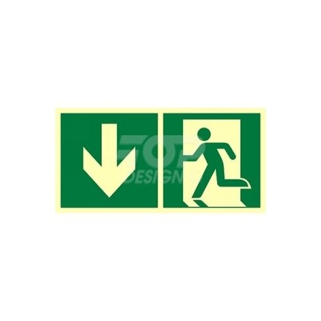 AE094 Kierunek do wyjścia ewakuacyjnego w dół (lewy)