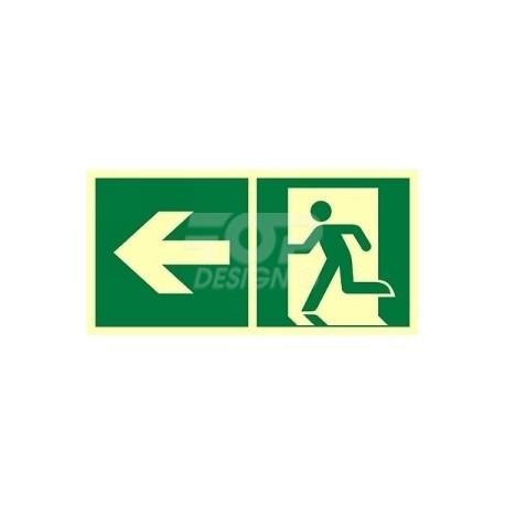 AE092 Kierunek do wyjścia ewakuacyjnego w lewo