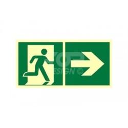 AE097 Kierunek do wyjścia ewakuacyjnego w prawo