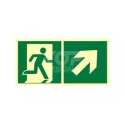 AE096 Kierunek do wyjścia ewakuacyjnego w górę w prawo