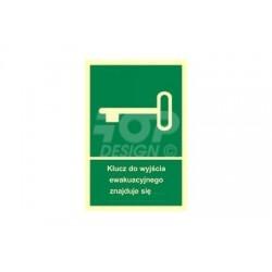 AB001 Klucz do wyjścia ewakuacyjnego znajduje się