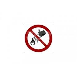 BA003 Zakaz gaszenia wodą