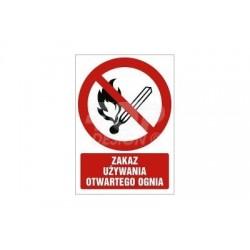 GC037 Zakaz używania otwartego ognia