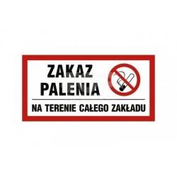 NC009 Zakaz palenia obowiązuje na terenie całego zakładu