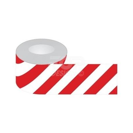 Dwustronna taśma odgradzająca biało-czerwona.