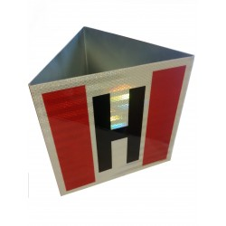 Znak 3D HYDRANT odblaskowy ocynkowany | 25x25cm
